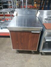 Used Custom 24 All Stainless Steel Work Table With Riser