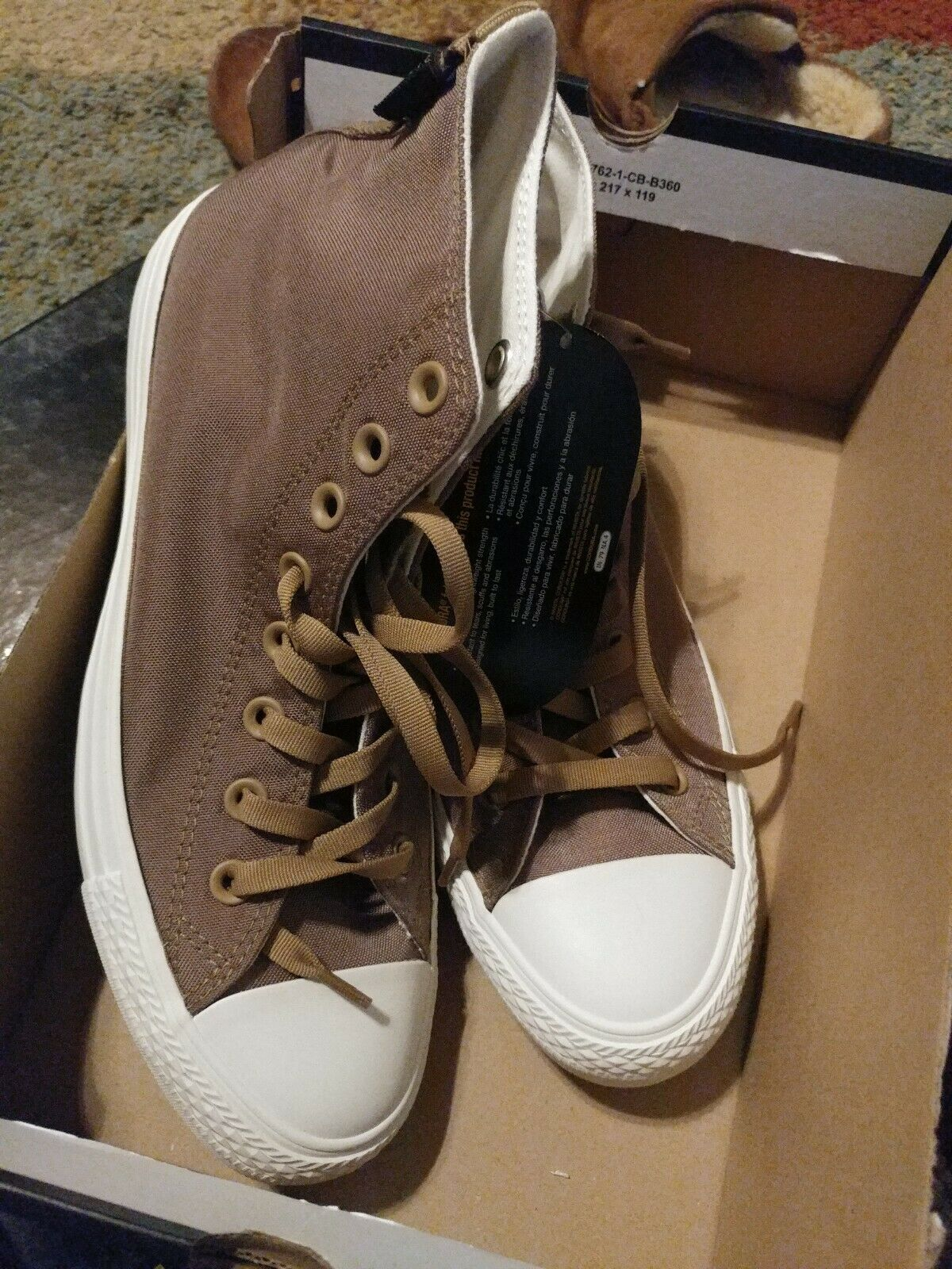BRAND NEW IN BOX CONVERSE 161430C Teak Chuck Hi Sneakers size 8.5 mens 10.5 wm
