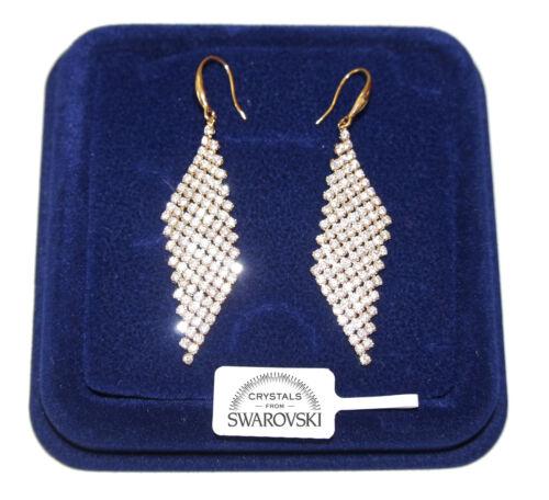 Orecchini Lunghi da donna pl oro Giallo 18K  zirconi cristalli swarovski SW84//2
