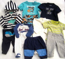 Baby Boy Clothes Lot 0-3 3 Month Pants T-Shirts Hoodie Whales Mostly Carter's