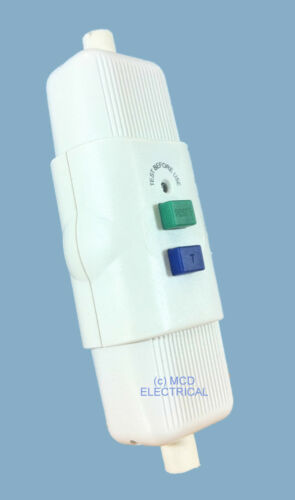 In Line RCD Safety Trip Switch with Test /& Reset Switch