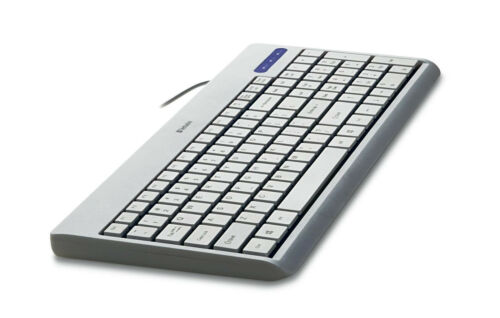 Comfortable Wired USB Full Size Corded Keyboard for PC//MAC Laptop Desktop White