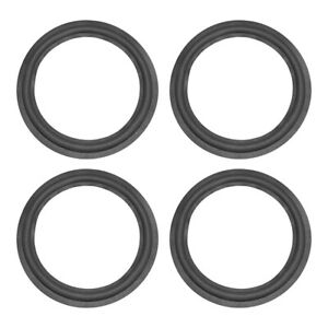 uxcell 5.5 inches 5.5inch Speaker Rubber Edge Surround Rings Replacement Parts for Speaker Repair or DIY