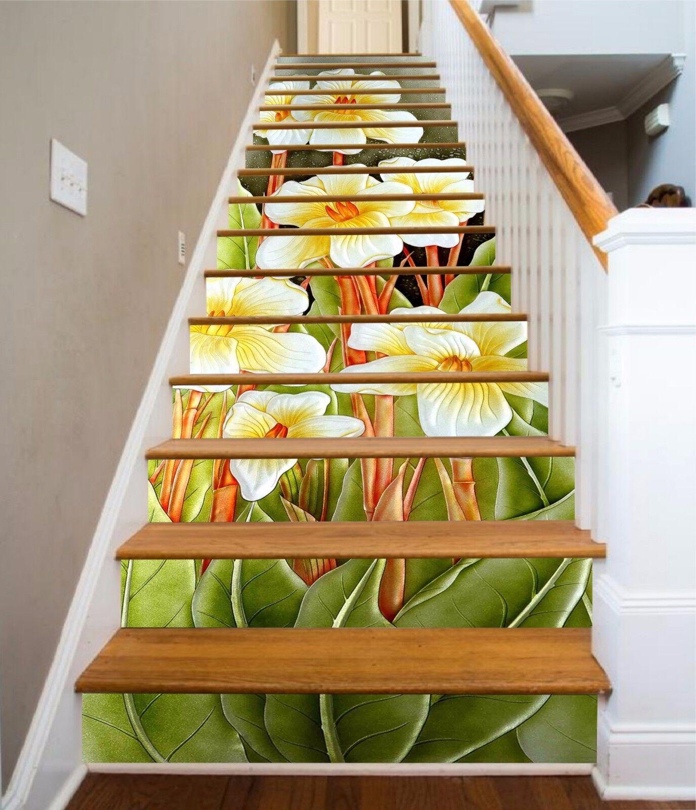 3D Flower leaf 335 Stair Risers Decoration Photo Mural Vinyl Decal WandPapier UK