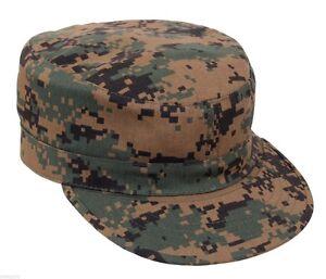 ce2447b87a4 Military Style Fatigue BDU Cap Hat Woodland Digital Camo Adjustable ...