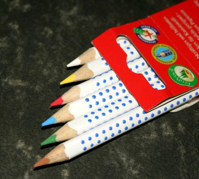 fabercastell heft und tafelstift colour grip 6er etui