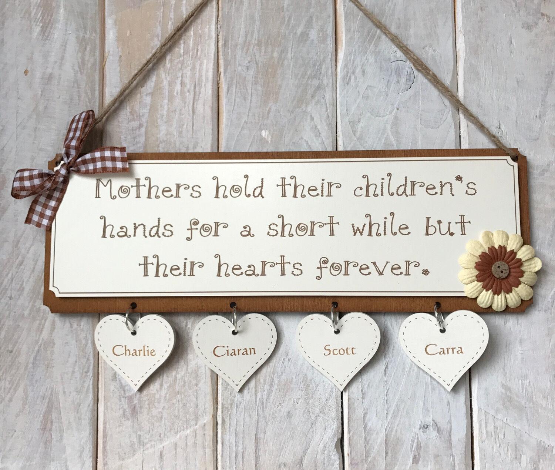 Mamme Mamme Mamme Giorno Regalo Per La Mamma Moglie PLACCA le madri tenere le mani per Bambini Regalo Placca aae445