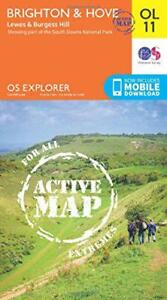 OS-Explorer-Active-ol11-Brighton-amp-Hove-OS-MAPPA-Active-di-Ordnance-SUR
