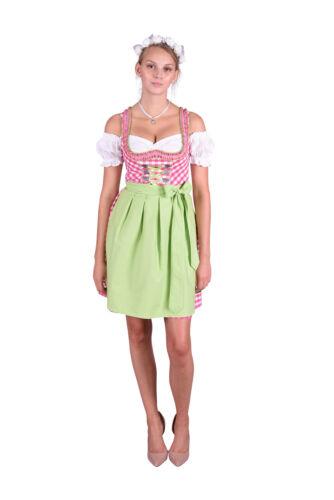 Dirndl Set Trachtenkleid 481GT Pink Weiß kariert Gr 34 36 38 40 42