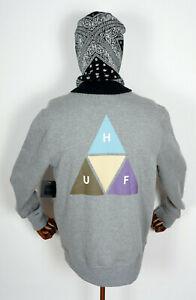 Huf-Worldwide-Sweatshirt-Crewneck-Hoodie-Crew-Prism-Trail-Grey-Heather-in-M