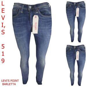 519 Denim Blu Jeans Pantaloni Elasticizzati Skinny Aderente Levi's Uomo Levis wXEqxX