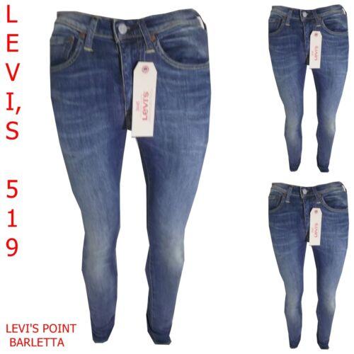 Aderente 519 Pantaloni Levis Levi's Denim Jeans Uomo Elasticizzati Skinny Blu wEaqUzU