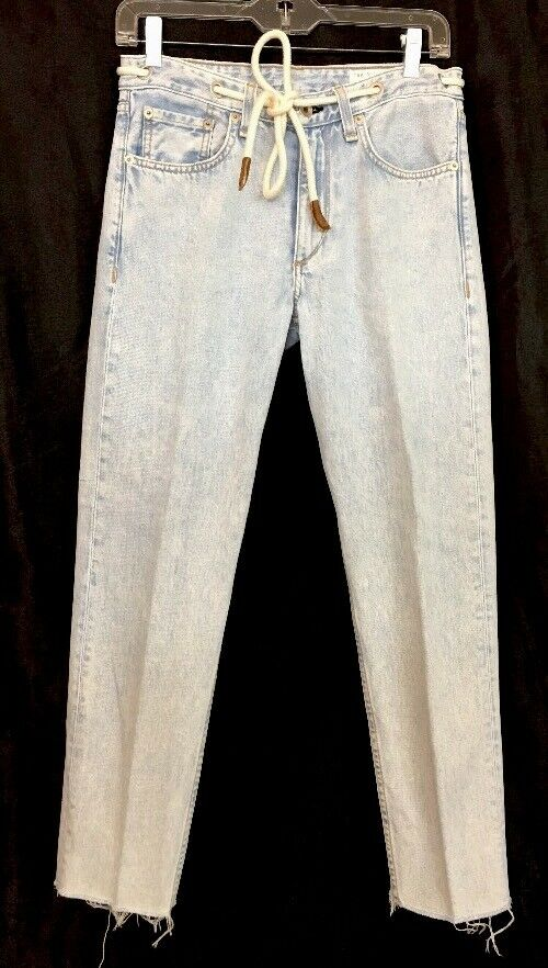 Rag And Bone Jean Sunny's Light Wash Rope Belt Crop Size 24