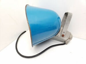 Vintage-Crouse-Hinds-Elliptalux-5878-Gas-Station-Lamp-Rare-Blue