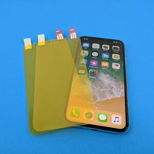 quality design 3cb55 83665 Details about Full Cover Clear TPU Plastic Screen Protector LOT For Apple  Iphone XR