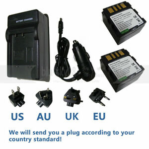 2-Battery-charger-for-JVC-BN-VF707U-Everio-GZ-MG21U-GZ-MG37U-GZ-MG505-Camcorder
