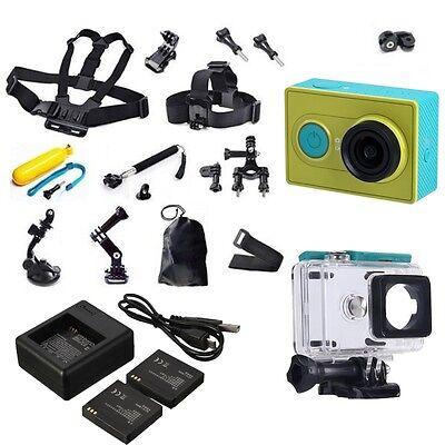 Green Original XiaoMi Yi WIFI Sports Action Camera+Accessories+Charger+Battery