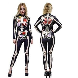 Halloween Scheletro Costume Donna Scheletro Costume Scheletro Abito Donna Vestito Abito da Donna ossa