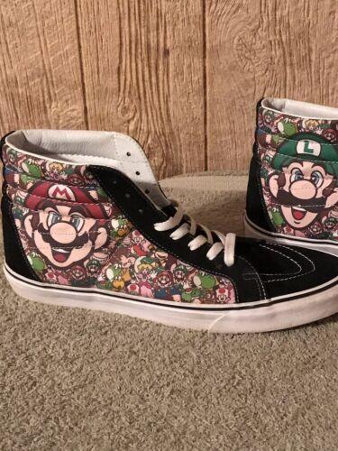 Vintage Mens Nintendo Mario Vans Size 13