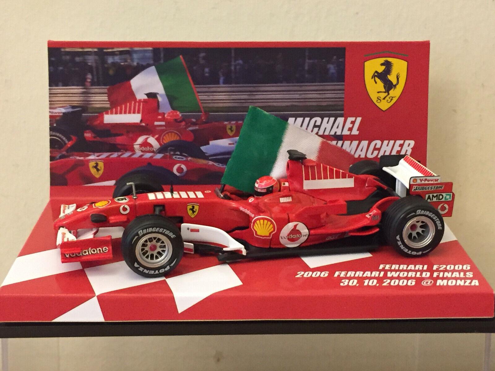 1 43 Ferrari F2006 Schumacher FERRARI WORLD FINAL DAY PARADE RUN MONZA OCT 2006