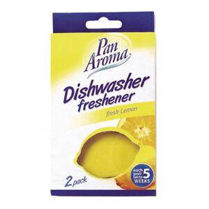 Pan-Aroma-2-Pack-Dishwasher-Freshener-Fresh-Lemon-Scent-Lemon-Shape