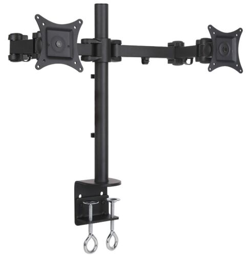 """NYCCO NYCCO253D Dual Monitor Desk Mount Fully Adjustable for Monitiors up to 27/"""""""