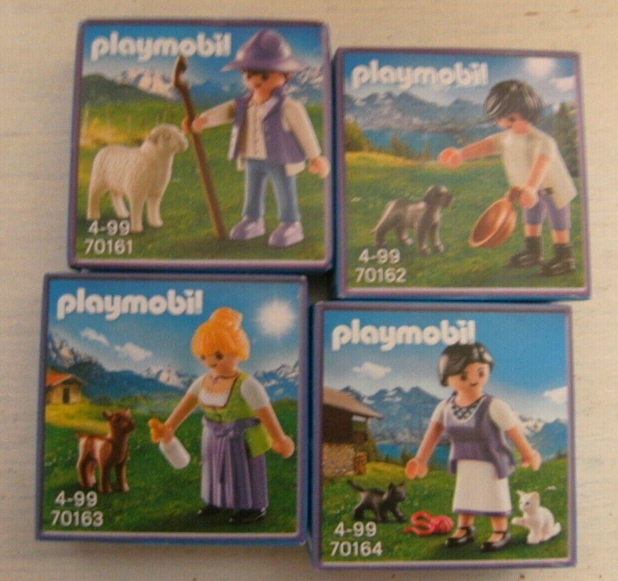 Playmobil 4 x Milka Sonderedition 70161 70162 70163 70164 Neu & OVP limitiert