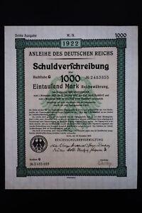 Germany-1922-Intact-Registered-Bond