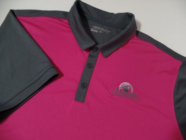 RARE Nike Dry Essential Standard Fit Golf Polo Shirt Mens 4xl Black Aj5485