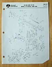 Original Rockwell Model 10 Radial Arm Saw Illustrated Parts List Ras 2f