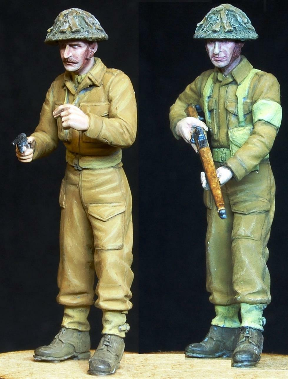 1 35 Escala Resina Modelismo Kit Ww2 Británico Home Guard Patrol (2 Figuras)
