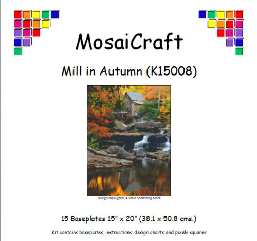 MosaiCraft Pixel Craft Mosaic Kit /'Mill in Autumn/' Waterfall Pixelhobby