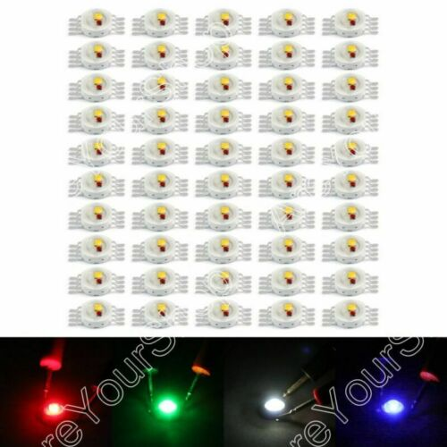 3W LED RGB Infra Beads Lamp Diodes High Power Chip Light Multi-Color