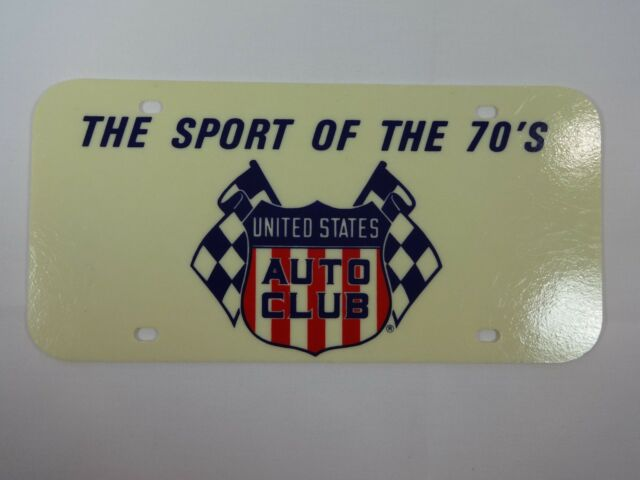 United States Auto Club USAC The Sport Of The 70's License Plate Indy 500 Midget