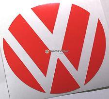 Emblem Ecken Neon Rot hinten VW Golf 6 VI GTI GTD R Turbo Logo Heck Folie
