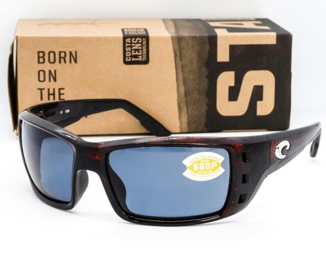 Costa Del Mar Bayside Sunglasses BAY-10-OGP Tortoise 580P Grey Polarized