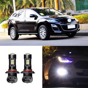 2x-Canbus-H11-3030-21SMD-LED-DRL-Daytime-Running-Fog-Lights-Bulbs-For-Mazda-CX-7