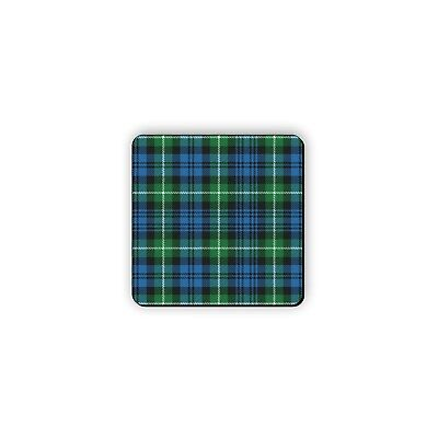 Forbes Scotland Clan Dress Tartan Motto Crest Rubber Drink Coaster