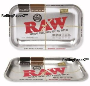 Raw-Rolling-Papers-SILVER-Tray-11x7-NEW-2019-Edition-vintage-style-RAWthentic