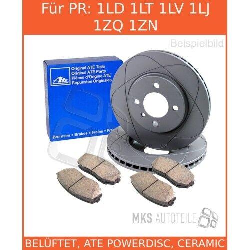 2x Unités antithrombine Disques De Frein Garnitures de freins complet set avant audi vw seat 3394427