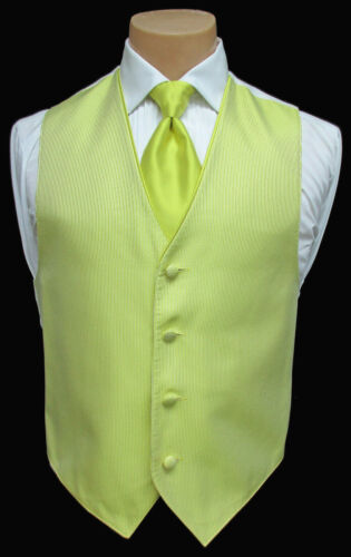 Men/'s Yellow Jean Yves Cooper Tuxedo Vest /& Long Tie Formal Wedding Cruise Prom