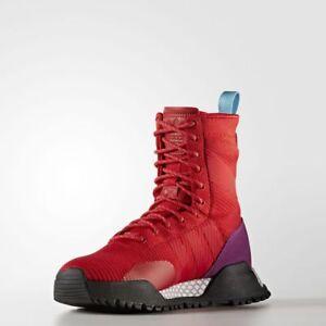 4a9e93e1584e14 Adidas AF 1.3 Primeknit Boots Scarlet Red   BZ0611   Men s F 1.3 PK ...