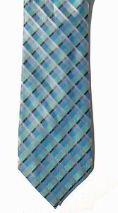 802c2a43b3e6 Calvin Klein NEW Blue Green Slim Plaid Men's Neck Tie Silk $59 A3583 ...