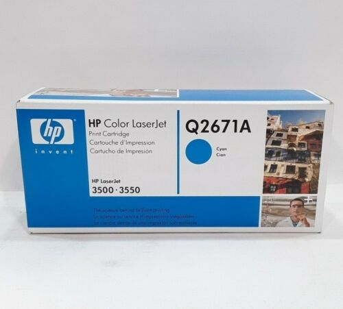 GENUINE HP 308A Q2671A Cyan Toner Cartridge LaserJet 3500 3550 3700 NEW OEM