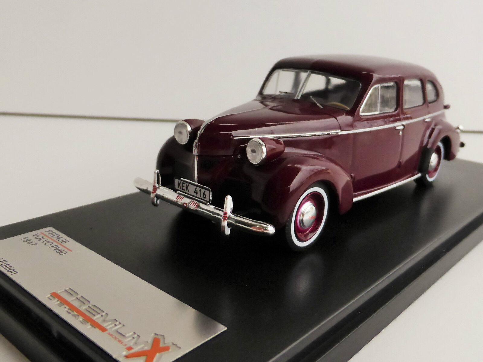 descuento de ventas Volvo Pv60 1947 1 43 Ixo Premiumx Prd436 Limitado Edición Edición Edición Prd 436 PV 60 Maroon  Todo en alta calidad y bajo precio.