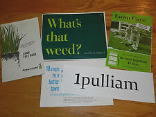 VINTAGE Lawn Care Guides (LOT), Weed Control Color Photos, Lawn Care