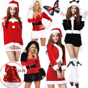 Vestiti Da Babbo Natale Per Donne.Sexy Women Ladies Christmas Party Fancy Dress Cosplay Suit Santa