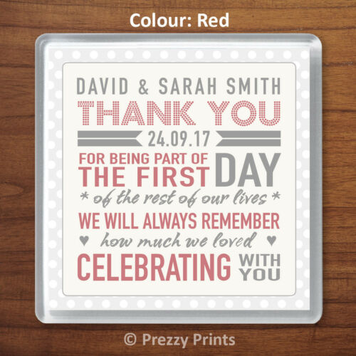 Home & Garden Personalised Wedding Favour Thank You Gift Drinks ...
