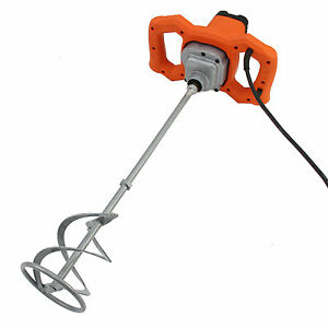 Details about Paddle Mixer Electric Plaster Mixing Paint Stirrer Single  Plastering Whisk 1600W