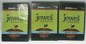 Jewel-School-Beads-And-Wire-General-Beading-Wire-Wrapping-DVD-Lot-Of-3